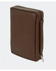 Genuine Leather Bible Case - Brown