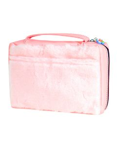 Faux Fur Pink Bible Case
