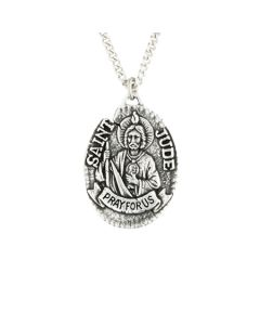 Sterling Silver Necklace - Saint Jude Medal