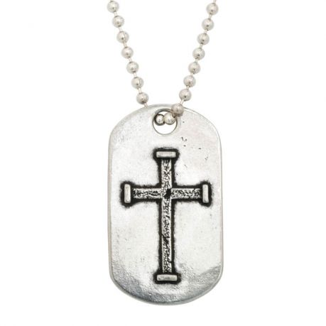 Christian Necklace - J.C.I.D. Iron Cross Tag