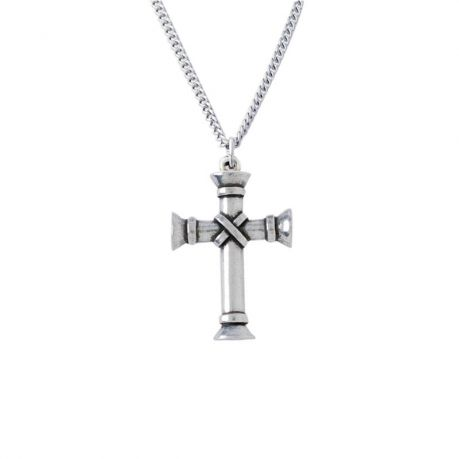Cross Necklace - Wrapped Pillar
