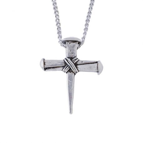 Cross Necklace - Wrapped Nails
