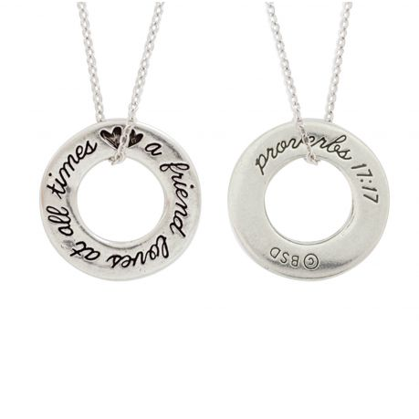 Christian Necklace - Friend / Proverbs 17:17