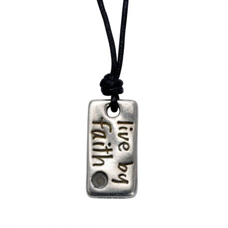 Christian Necklace - Live by Faith Matthew 17:20