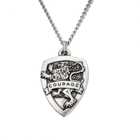 Christian Necklace - Joshua 1:9 Courage Shield