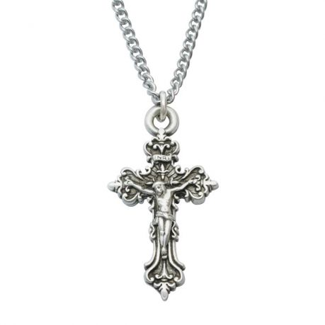 Cross Necklace - Small Fancy Crucifix