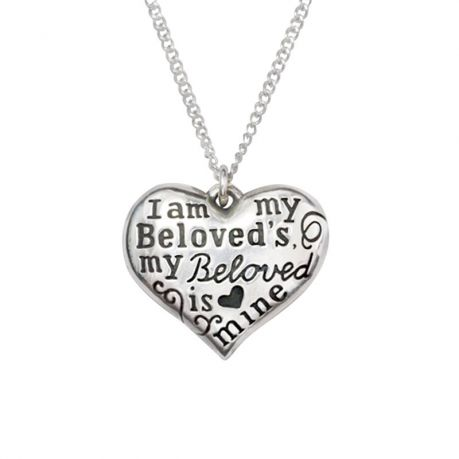 Sterling Silver Heart Necklace - I Am My Beloved's