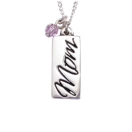 Sterling Silver Mom Necklace with Proverbs 31:28