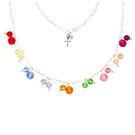 Sterling Silver Crystal Necklace - Fruit of the Spirit